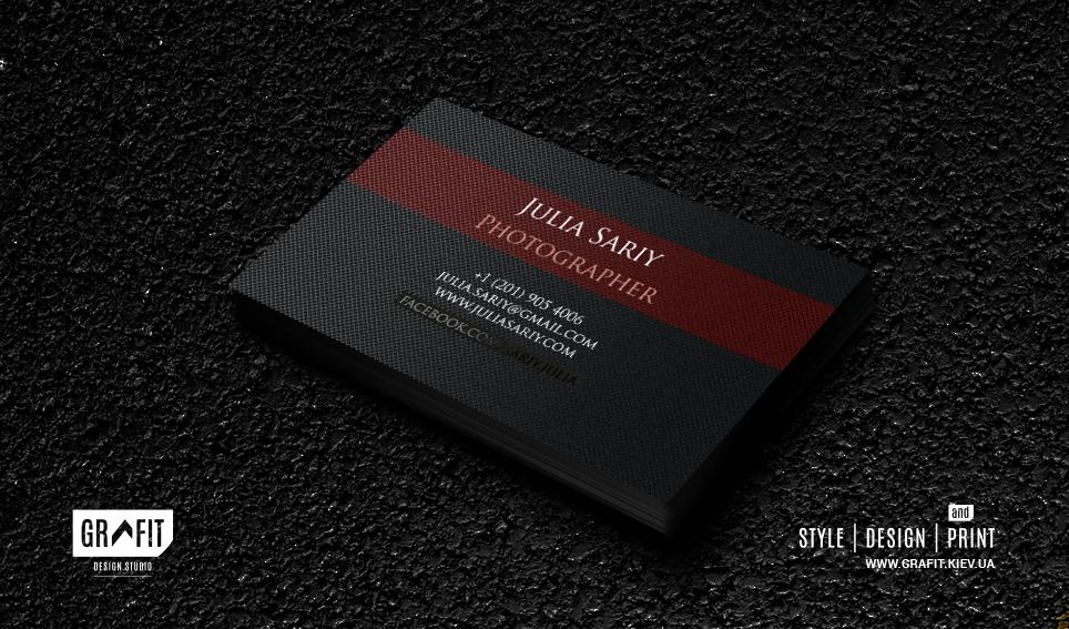 Дизайн визиток фотографа